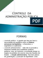 Controle e Processo Administrativo