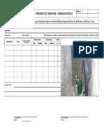 15 - Formato Prueba de Presion de Hidrostatica