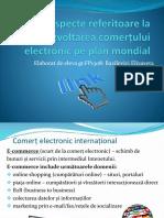 Aspecte referitoare la dezvoltarea comerțului electronic pe plan mondial