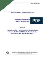 Memoria  Descriptiva - Riego Tecnificado.doc