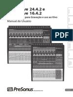 Manual Presonus StudioLive 16.4.2.( PORTUGUES)