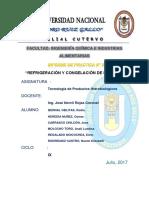PRACTICA N° 05 CONGELACION Y REFRIGERACION DEL PESCADO