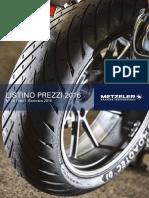 Listino Moto Metzeler 2016