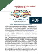 Nuevas Reglas Para Una Economía Mundial Más Justa -G 20 - L 20-1-2017