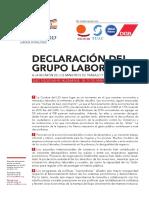 Declaración Del Grupo Laboral L 20 1-2017-G 20 - L 20
