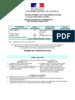 Catalogue de Cours ECT