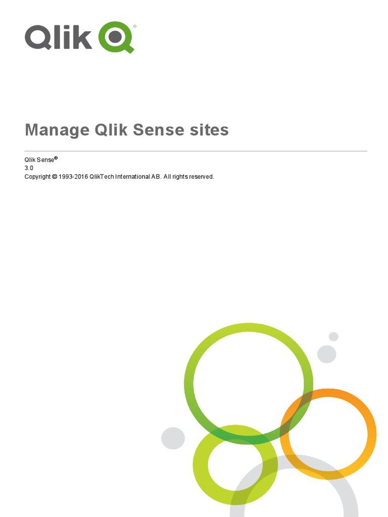 Manage Qlik Sense sites pdf | Proxy Server | Command Line