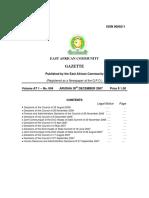 EAC Gazette 2007