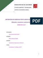 Obtención de Esencias Por Fluidos Supercríticos (Esquemas, Ejemplos y Aplicaciónes)