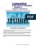 HANDOUT Develop a Marketing Plan 20jan16