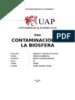 Contamiancion de La Biosfera