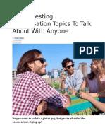 50 Interesting Conversation Topics