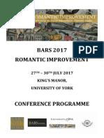 BARS 2017 Programme