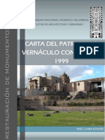 Carta Patrimonio Vernaculo Construido
