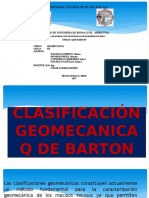 CLASIFICACIÓN GEOMECANICA Q DE BARTON.pptx