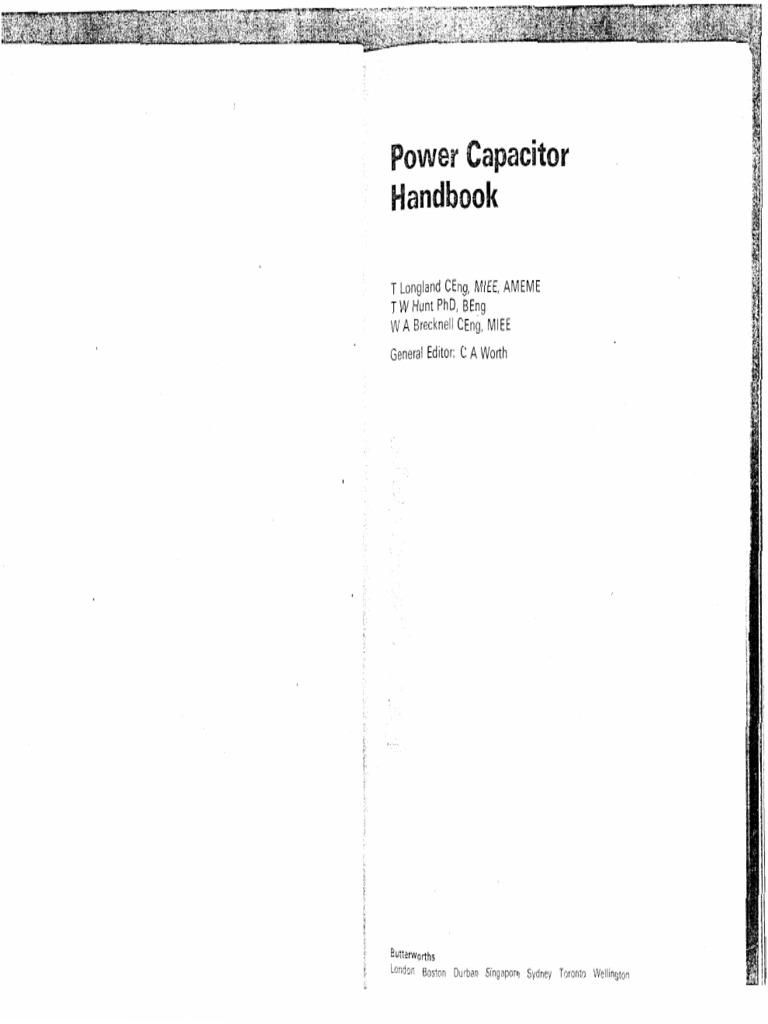 Power Capacitor Handbook Longland Hunt Becknell Dielectric 138 Volt 20 A Transformerless Supply Circuit Diagram