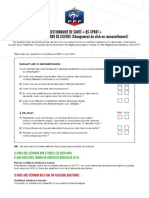 Questionnaire de Santé - Saison 2017-2018