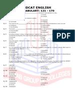 Vocab Test 121-170