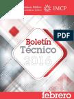 02-Boletin Tecnico Febrero 2016