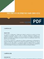 Exposición Del Decreto Supremo 049 2001 Em