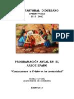 Programación Pastoral Del Arzobispado 2013