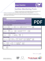 Form - Equal Opportunity Monitoring Form