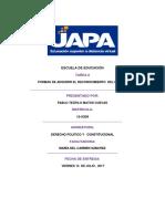 Tarea II. Derecho Politico y Constitucional