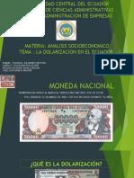 Presentacion La Dolarizacion Base 2