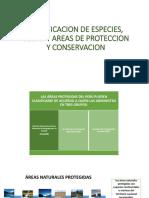 Clasificacion de Especies, Vedas y Areas De