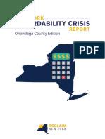 Onondaga County - Affordability Report