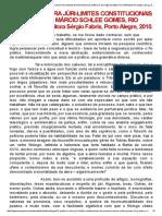 Prefácio à Obra Júri-limites Constitucionais Da Pronúncia, Márcio Schlee Gomes, Rio Grande-rs, Editora Sérgio Fabris, Porto Alegre, 2010