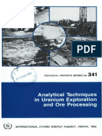 Analytical Techniques in Uranium Exploration and Ore Processing