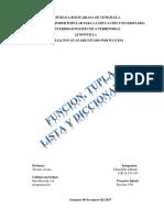 Definición de Funciones Tuplas Listas y Diccionario