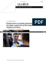Globus Komentari Plenkovicev Je Projekt Jednostavan Ali Tezak Napraviti Od Hrvatske Uljudeno Drustvo 4590740