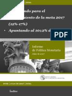 Informe de Política Monetaria Julio 2017