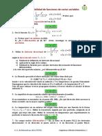 Diferenciabilidad, plano tangente,regla de la cadena (mix calculo3)  (resuelto)