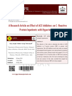 A Research Article on Effect of ACE Inhibitors on C- Reactive