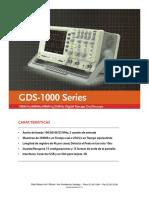 Osciloscopio Catalogo GDS-Serie1000
