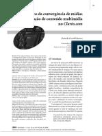 3. Convergência de Mídias e Da Produção de Conteúdo Multimídia