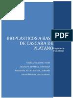 Bioplasticos a Base de Cascara de Platano