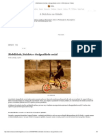 Mobilidade, Bicicleta e Desigualdade Social – a Bicicleta Na Cidade