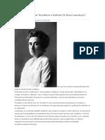 El Origen Del Eslogan, Socialismo o Barbarie de Rosa Luxemburgo