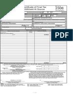 Form 2306 Witn Computation Electric Bill