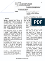 IEEE Task Force - Current Usage & Suggested Practices in Power System Stability Simulations for Synchronous Machines%2c 1986