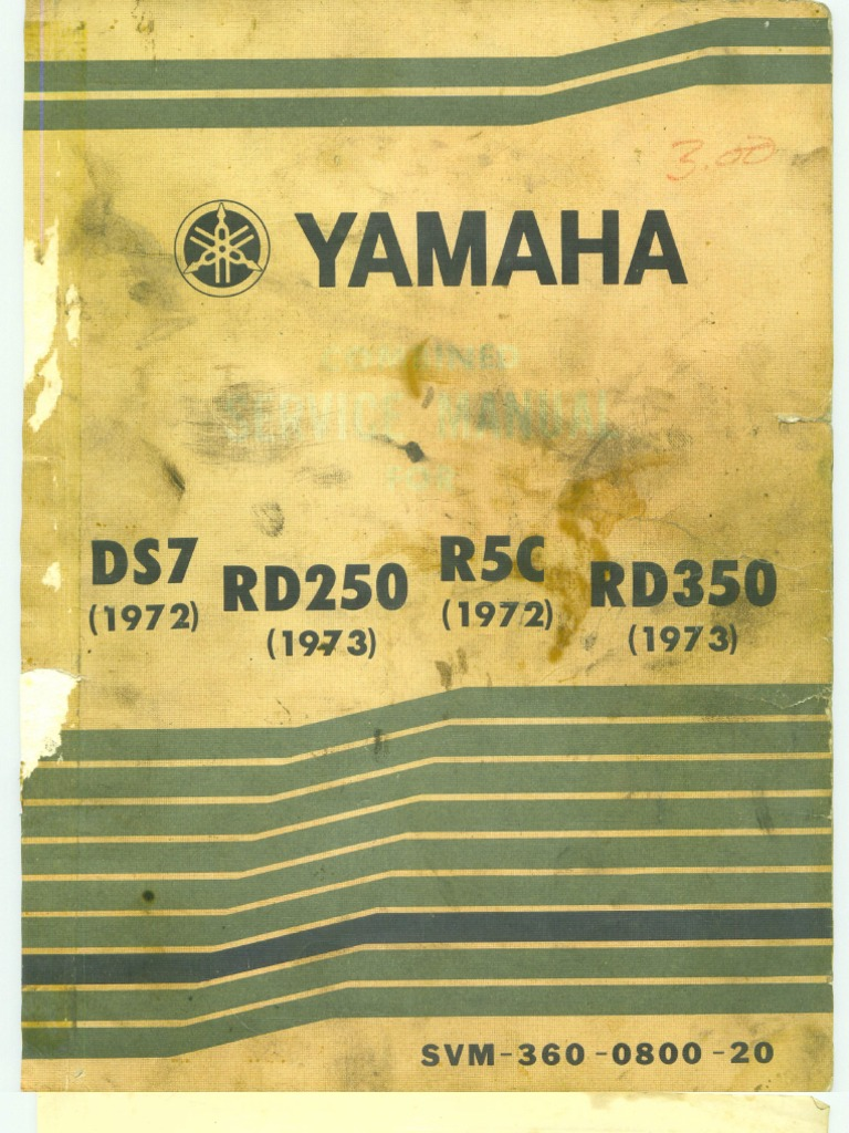 Yamaha Ds772 Rd25073 R5c72 Rd35073 72 100 Wiring Diagram
