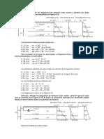 Calcular y Dibujar Los Diagramas de Esfuerzo Total