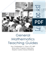 general mathematics teaching guides