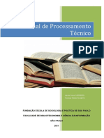 Manual de Processamento Técnico-Trabalho Final Da Disciplina de Biblioteca Laboratório