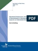 Educational Infrastructure School Construction & Decentralizati