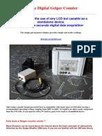 Simple Digital Geiger Counter